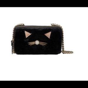 Kate Spade Brighton Lane Marigold Furry Cat Purse